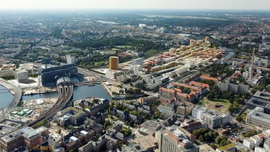 Europacity: Luftbildmontage