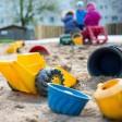 Sandkasten in einer Kita