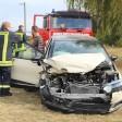Der Wagen der Frau wurde bei dem Unfall schwer beschädigt