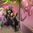 """Die Macher von The Haus: Bolle, Jörni und Kimo (v.l.) gehören zur Berliner Street-Art-Combo """"Die Dixons""""."""