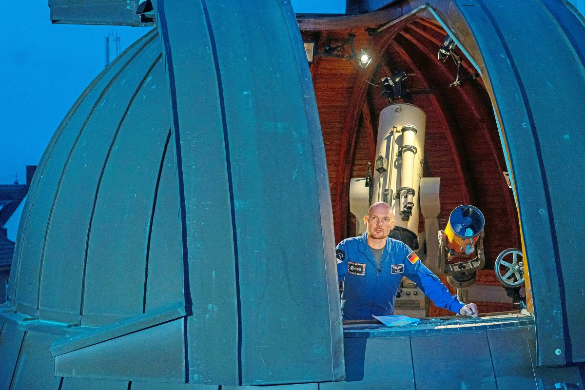 Auf Tuchfühlung mit Alexander Gerst im Zeiss-Großplanetarium
