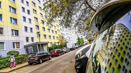 Die Gesobau-Siedlung an der Vesaliusstraße in Pankow wird durch Neubauten im Innenhof ergänzt.