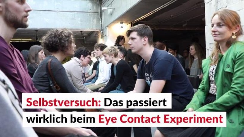dating experiment eye contact The eye contact experiment of 2017 was created on the 23rd of september, 2017 and is happened in over 350 different cities around.