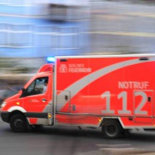 Ein Rettungswagen im Einsatz (Archivbild)