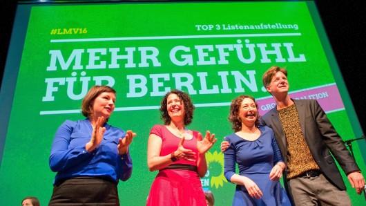 Die Führungsriege der Berliner Grünen. Landeschef Daniel Wesener (r.) schließt eine enge Zusammenarbeit mit der Berliner CDU aus