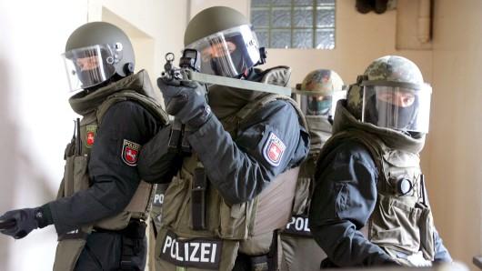 Polizisten beim Training (Symbolbild).