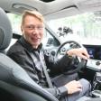 Mika Häkkinen während der Tour durch Berlin