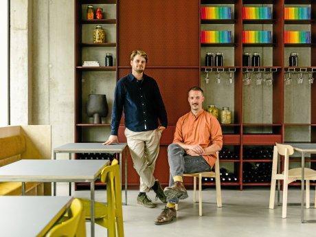 Lode van Zuylen (r.) und Stijn Remi in ihrem Restaurant Remi