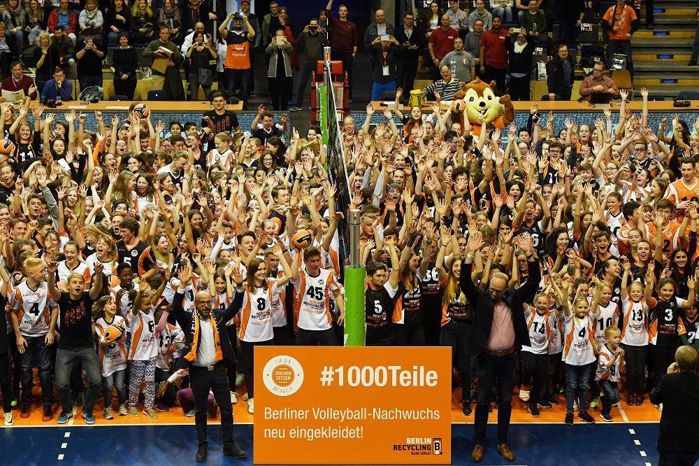 Berlins Volleyball-Nachwuchs wurde bereits erfolgreich eingekleidet.