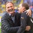 Dortmunds Geschäftsführer Hans-Joachim Watzke mit BVB-Coach Thomas Tuchel ist vor der finanzstarken Premier League nicht bange