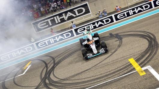 Nico Rosberg drehte noch ein paar Extrarunden in seinem Boliden