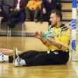 Füchse-Torwart Petr Stochl muss sich geschlagen geben