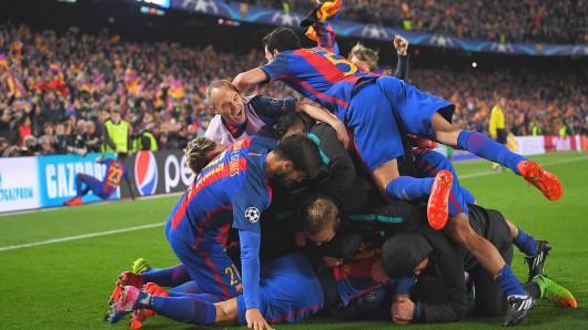 Jubelberg in Barcelona nach der sensationellen Aufholjagd gegen Paris