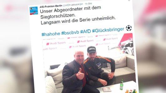 Der Tweet des  Berliner AfD-Abgeordneten Frank Scheermesser
