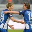 Bald nicht mehr in Blau-Weiß? Genki Haraguchi (l.) und Valentin Stocker möchte Hertha BSC gern noch abgeben