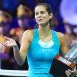 Julia Görges feiert in Moskau den dritten Turniersieg ihrer Karriere.