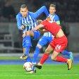 Davie Selke (l.) hat in sieben Pflichtspielen für Hertha vier Treffer erzielt, obwohl er nur zweimal durchspielte