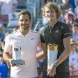 Ein besonderer Tag für Alexander Zverev (l.): Beim Turnier in Montréal besiegte er sein Idol Roger Federer