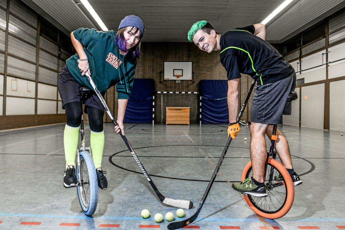 Einradhockey - Rasant auf nur einem Rad