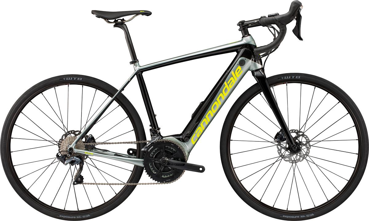 28-Zoll-Räder sorgen beim Cannondale Synapse NEO 2 Elektrorennrad für Laufruhe.