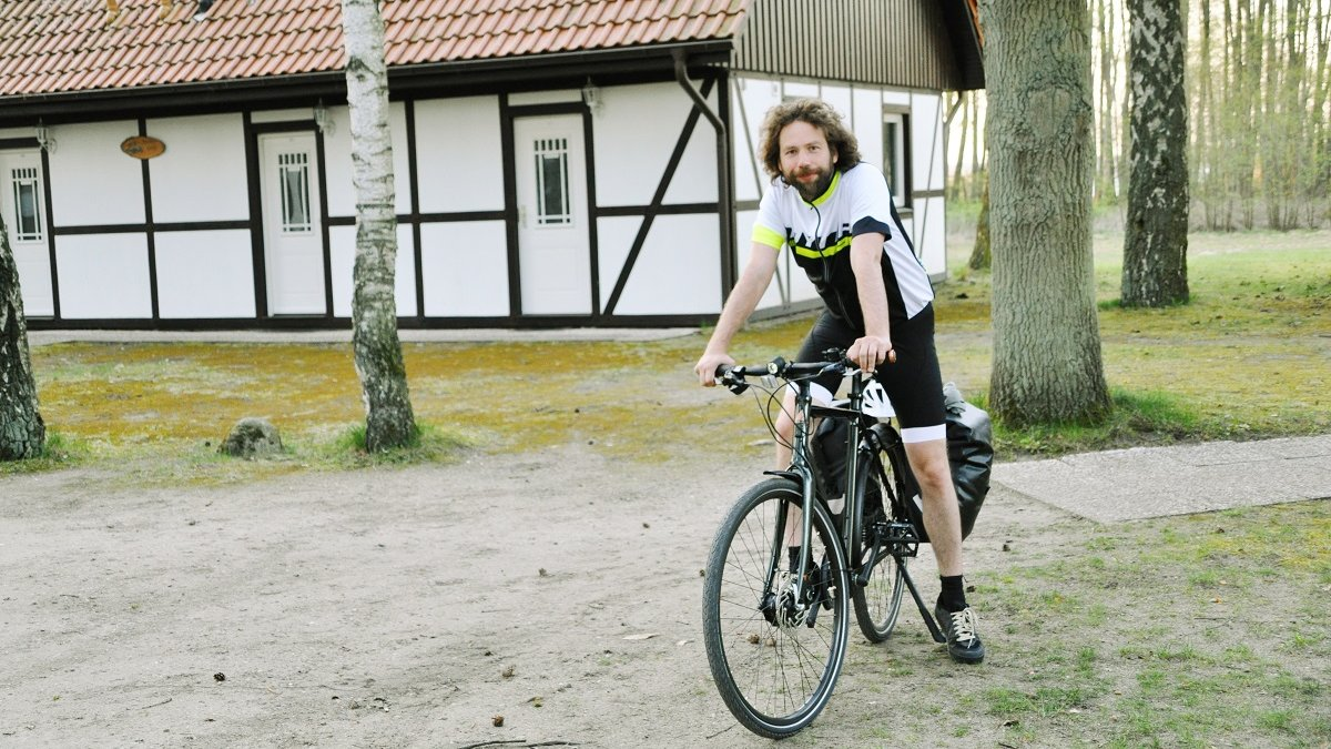 Glücklich am Ziel in Althüttendorf nach 75 Kilometern