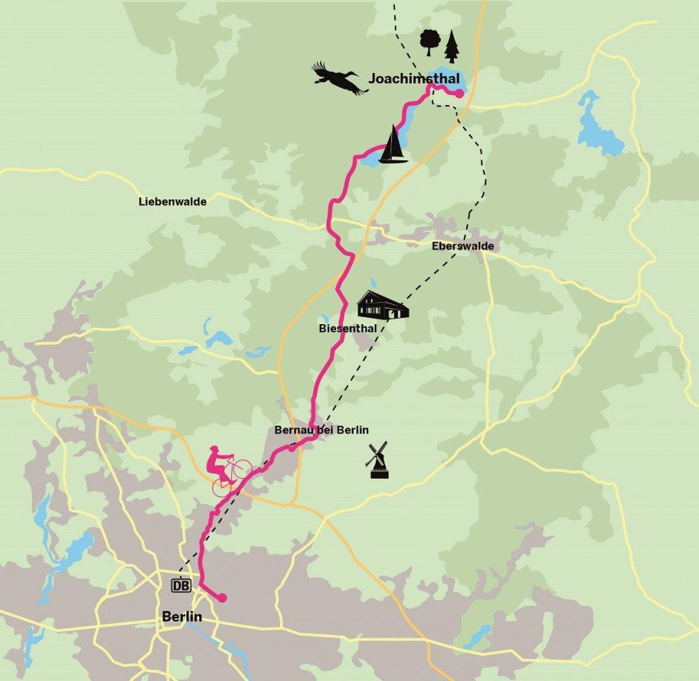 Erste Etappe des Berlin-Usedom-Radwegs