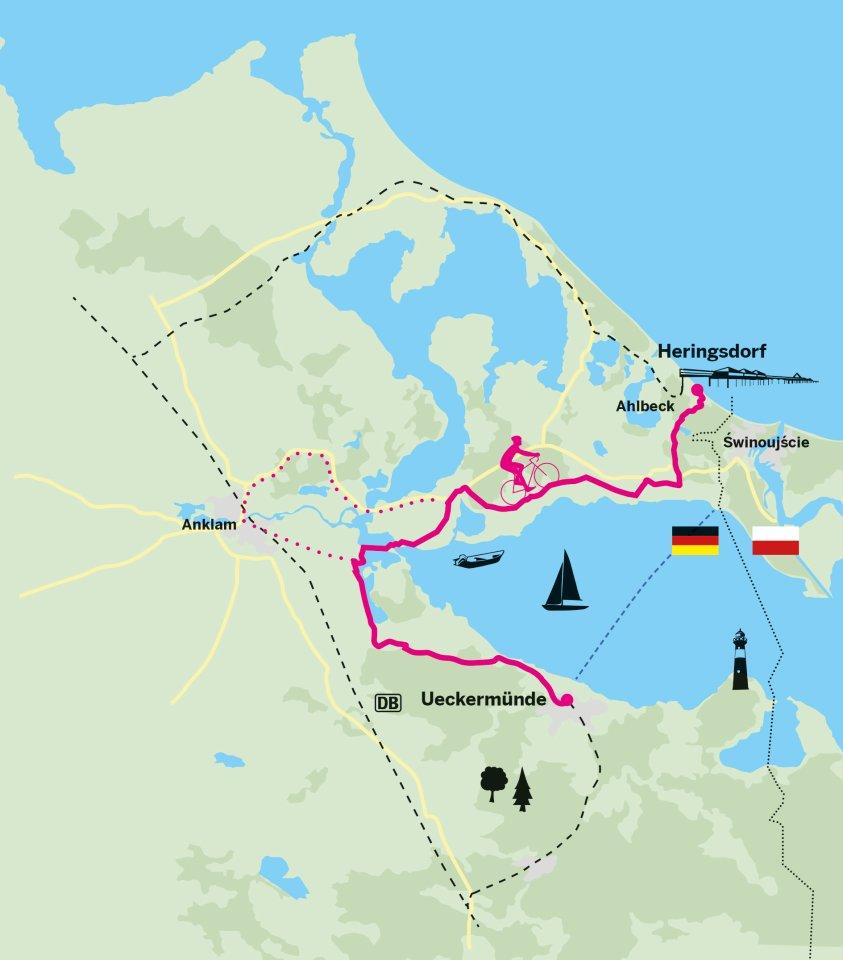 Ab auf die Insel: die vierte Etappe des Berlin-Usedom-Radweges.