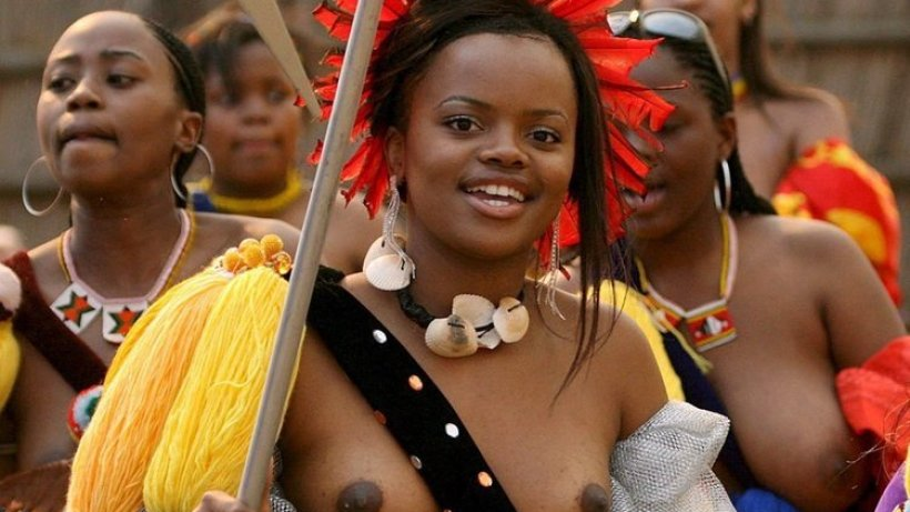 Topless african zulu dance - South african naked black