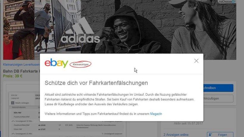 ebay kleinanzeigen warnt vor gef lschten fahrkarten vermischtes berliner morgenpost. Black Bedroom Furniture Sets. Home Design Ideas