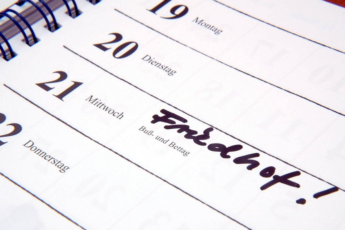 Buß- Und Bettag Feiertag