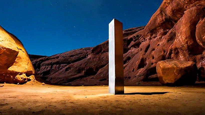 Image Metallsäulen: Mysteriöse Monolithe geben Rätsel auf – auch in Deutschland