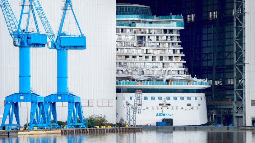 AIDAnova hat das Baudock der Meyer Werft verlassen