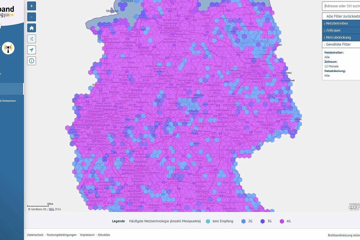 3g karte deutschland Funklöcher Deutschland: Karte zeigt große Schwachstellen des