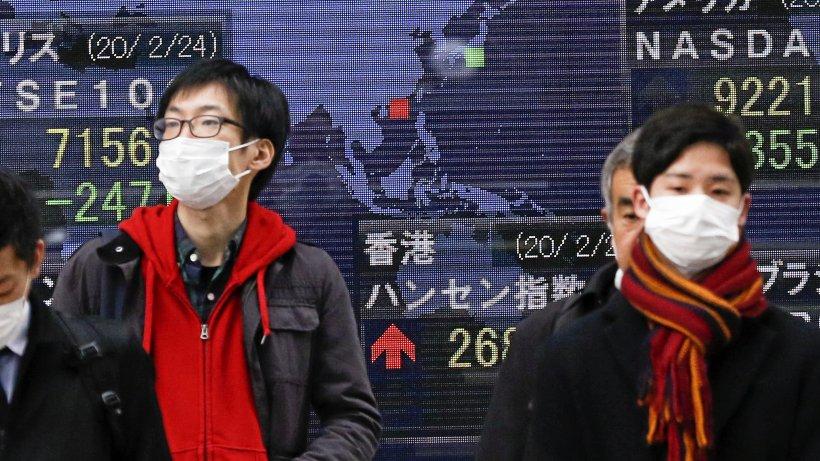 Coronavirus versetzt Börsen in Panik: DAX und Dow Jones im Keller