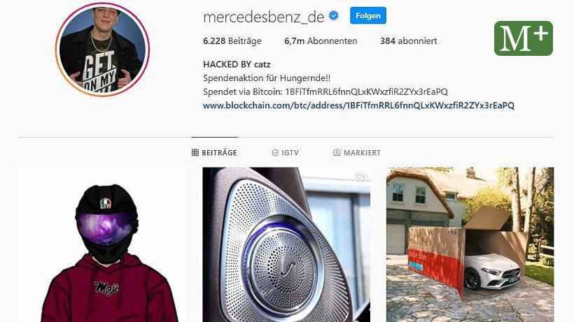 Mercedes Benz Instagram Gehackt